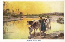 FRANCE - MANCHE (50) - AVRANCHES - Bords De La Sée - Illustration De Le Vavasseur. (Chocolat Martougin) - Avranches