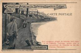 BELGIQUE - LIEGE - Exposition Universelle Internationale 1905 - L'Industrie. (illustration Lejeune) - Expositions
