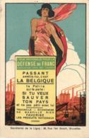 BELGIQUE - Ligue Nationale Pour La Défense Du Franc. ASBL. Passant Arrête-toi, C'est La Belgique... (2 Cartes). - Reclame