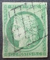 R1568/31 - CERES N°2 - GRILLE NOIRE - Cote : 1050,00 € - 1849-1850 Cérès