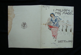 Spartito Grieg I Milioni Di Miss Mabel Duetto Di Baci Mazza Primi 900 Ed Bodro - Vecchi Documenti