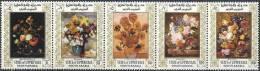 1967 ADEN UPPER YAFA Michel 89-93** Tableaux De Fleurs, Van Gogh - United Arab Emirates
