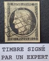 R1568/32 - CERES N°3 ☛☛☛ Signé ROUMET Expert - GRILLE NOIRE - LUXE - SUPERBE - 1849-1850 Cérès