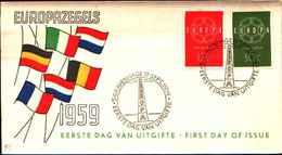 12344a)F.D.C.EUROPA CEPT   Nederland -19-959 - FDC