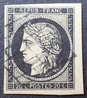 R1568/34 - CERES N°3 - PETIT BdF - GRILLE NOIRE - 1849-1850 Cérès