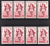 FRANCE 1953 - LOT 8 TP /  Y.T. N° 943 - NEUFS** - France