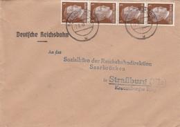 BRIEF. 2 6 44. SAARBRUCKEN TO SRASSBURG ELSASS - Briefe U. Dokumente
