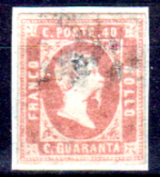 Sardegna-111 - Emissione 1851: Sassone N. 3 (o) Used - Difetto. - Sardinia