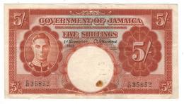 Jamaica, 5 Shillings 1940 , Crisp VF+. - Jamaica