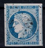 TIMBRE CERES N° 4 OBLITÉRÉ LUXE Avec OBLITERATION LÉGÈRE 4 BELLES MARGES RÉGULIÈRES + 1 VOISIN - 1849-1850 Cérès