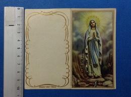 CALENDARIETTO 1962 SANTINO HOLY CARD MADONNA DI LOURDES - Formato Piccolo : 1961-70