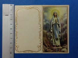 CALENDARIETTO 1962 SANTINO HOLY CARD MADONNA DI LOURDES - Calendari