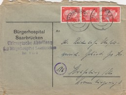 BRIEF . 5 5 44. BÜRGERHOSPITAL SAARBRÜCKEN - Briefe U. Dokumente