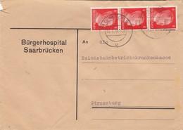 BRIEF . 11 1 44. BÜRGERHOSPITAL SAARBRÜCKEN TO SRASSBURG - Briefe U. Dokumente