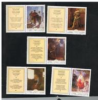 URSS -  YV. 4639.4643  -  1979  UKRAINIAN PAINTINGS     (COMPLET SET OF 5 WITH LABEL)   - MINT** - 1923-1991 URSS