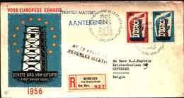 12351a)F.D.C.EUROPA CEPT   Nederland- Raccomandata-1956 - FDC