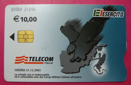 Serie 00089-218..., Italian Army In Kosovo Chip Phone CARD 10 Euro Used Operator TELECOM ITALIA *Eagle Flying* - Kosovo