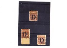 FRANCE COLIS POSTAUX N° 127-128-129 N** - Colis Postaux