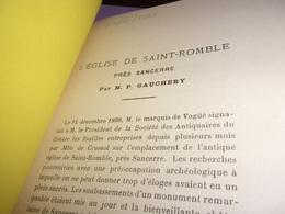 BERRY 1899 L Eglise De Saint Romble Pres Sancerre Par P Gauchery - Centre - Val De Loire