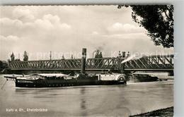 43285486 Dampfer_Seitenrad Mannheim Rheinfahrt Kehl Am Rhein Rheinbruecke Dampfe - Ships