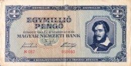 Hungary 1 Million Pengö, P-122 (16.11.1945) - Fine - Ungarn