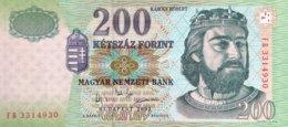 Hungary 200 Fiorint, P-187c (2003) - UNC - Ungarn