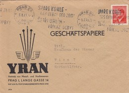 BRIEF. 5 10 43. YRAN VERTRIEB VON METALL. PRAG TO WIEN - Germania