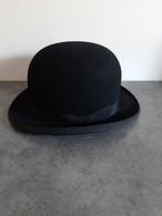 Ancien Chapeau Melon - Marque Henri Mutel à Fécamp - Taille 55 -  En Parfait état - - 1900-1940