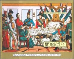M3865 Napoleon War History 1971 Manama S/s MNH ** Imperf Imp 10ME - Napoleón