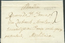 LAC De WEBBECOM Via (griffe En Noir) DIEST Le 16 Novembre 1788 Vers Malines; Port '2'.  TB  - 14390 - 1714-1794 (Oesterreichische Niederlande)
