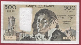 "500 Francs ""Pascal"" Du 05/01/1984.C---F/TTB+---ALPH.M.197 - 1962-1997 ''Francs''"