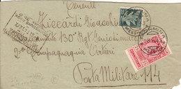 (St.Post.).Regno.V.E.III.-8 Settembre 1943.Affrancatura D'emergenza.Posta Militare 114 (24-18) - 1900-44 Vittorio Emanuele III