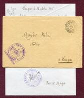 """LANGRES (52) : """" 3ème BATAILLON DE CHASSEURS A PIED """"  1916 - Postmark Collection (Covers)"""