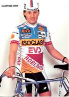 CLARYSSE Dirk B (Roeselare (West-Vlaanderen), 1-2-'64) 1988 Isoglass - EVS - Robland - Cycling