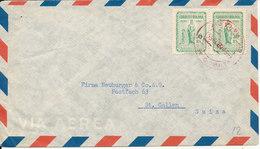 Bolivia Air Mail Cover Sent To Switzerland 9-3-1955 - Bolivia