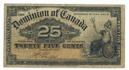 Dominion Of Canada,  25 Cents 1900, F+ - Canada