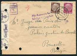 1941 Germany Brux Sudeteland KLV Lager Censor Cover - Palais De Justice, Bruxelles Belgium - Germany