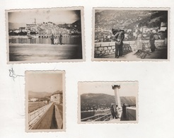 4 PHOTOGRAPHIES NOTEES MENTON AOUT 1937 - Lugares