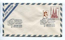 ARGENTINA - MUESTRA FILATELICA ROTARIA, AÑO 1975 SOBRE POR AVION ENVELOPE PAR AVION SPC - LILHU - Rotary, Club Leones