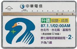 Taiwan - Chunghwa Telecom - LG - 87.1.1, 02.00 AM - 711H - 1997, 100U, Used - Taiwan (Formosa)