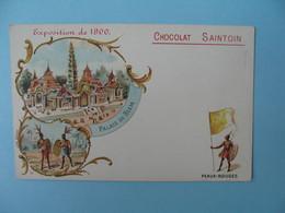 Carte Publicité - Chocolat Saintouin - Exposition De 1900 - Palais Du Siam - Peaux-Rouges - Publicité