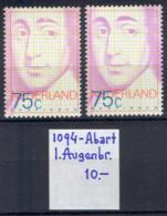 R7698 Science Philosophy Spinoza 1977 Netherlands 1v MNH ** ERROR RARE +Meshk - Period 1949-1980 (Juliana)