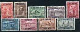 """RUANDA-URUNDI COB N°81 / 89 * CARITAS  """" GOUTTE DE LAIT """" - Ruanda-Urundi"""