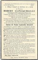 Doodsprentje  *  Clinckemaille Robert (° Ieper 1882 /  +  Ypres 1950)  X Bagein Gabrielle - Religion & Esotérisme