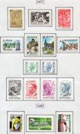 13775 BELGIQUE Collection Vendue Par Page N° 1863 à 1878  **/*  1977-78  TB/TTB - Unused Stamps