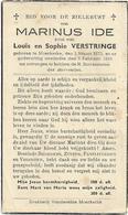 Doodsprentje  *  Ide Marinus (° Moerkerke 1870 /  +  1943)  Zoon Louis & Verstringe Sophie - Religion & Esotérisme