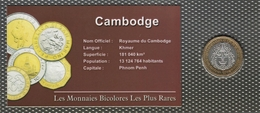 0009 - 'MONNAIES BICOLORES LES PLUS RARES' - Cambodge - 500 Riels - 1994 - Camboya