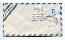 ARGENTINA - 65° ANIVERSARIO ESCUELA PROVINCIAL PUERTO DESEADO, AÑO 1975 SOBRE POR AVION ENVELOPE PAR AVION SPC - LILHU - Otros