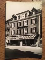 """CPA,TULLE - """"NOUVEL HÔTEL"""" Place Et Avenue De La Gare, Carte Publicaitaire Au Verso, Cliché Lngeau Tulle, Non écrite - Tulle"""