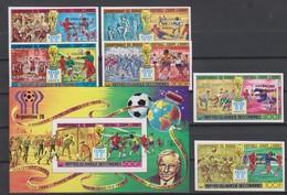 Soccer World Cup 1978 - Footbal - COMORES - S/S+Set Imp. Black Ovp MNH - 1978 – Argentina